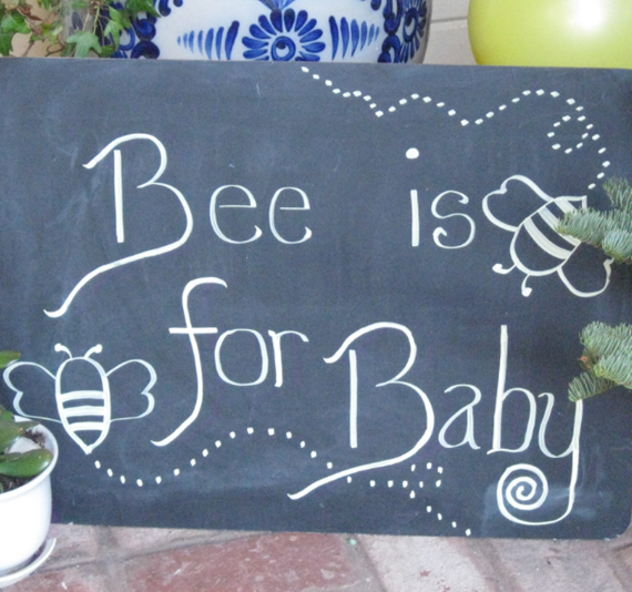 bee is for baby sign