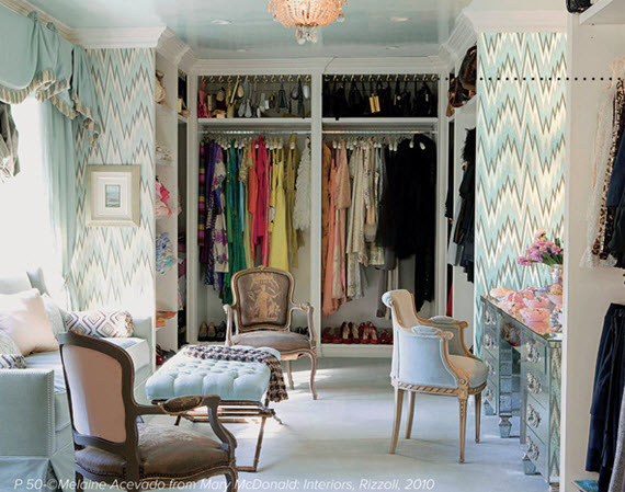 beautiful walk-in closet // Lonny