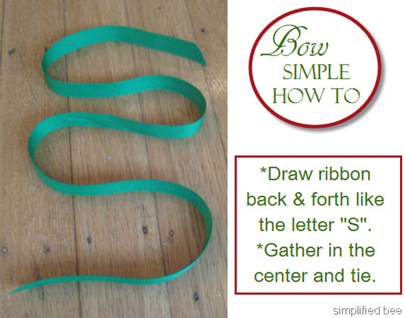 how to tie a simple bow #giftwrap