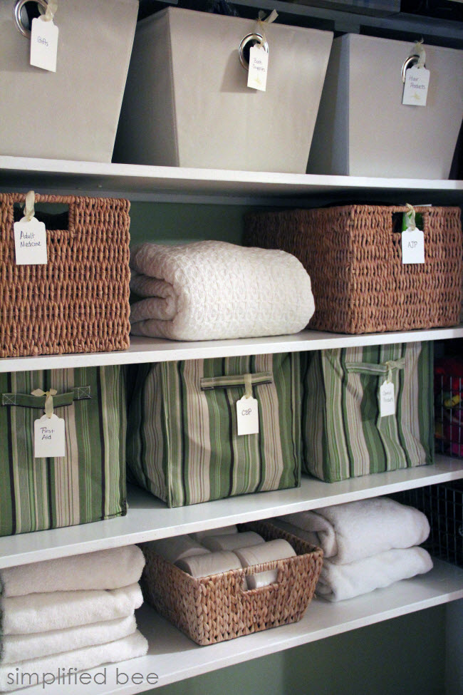 Simplified Bee Stylish Linen Closet