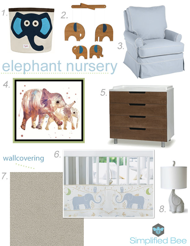 Elephant Nursery Design by Simplified Bee