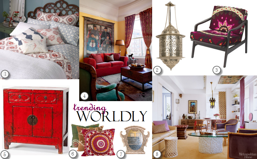 2017 Interior Design Trend Worldly