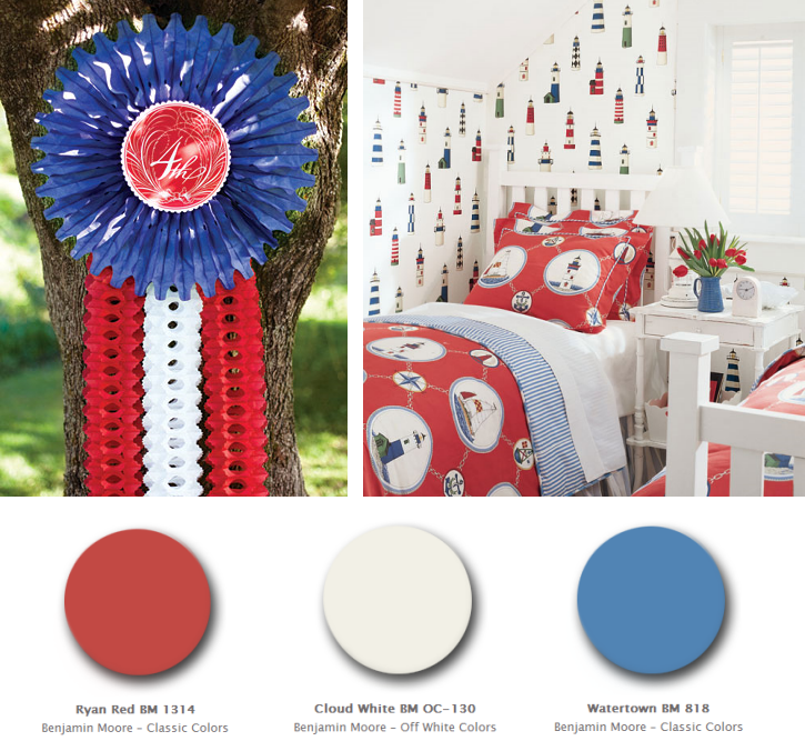 Red White And Blue Color Palettes For July 4th Decorating