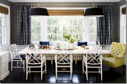 Beautiful Dining Room Mixed Seating Bench Windsor Smith
