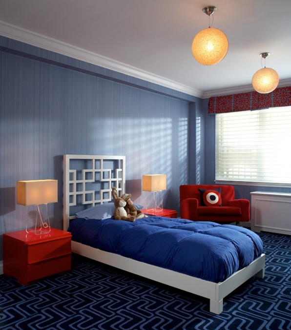 Decorating ideas for a little boy 39 s bedroom simplified bee for Boys room blue paint