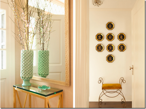 Chic entry table and mirror design