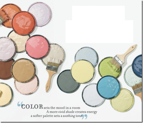 Colorful paints brushes color sets the mood