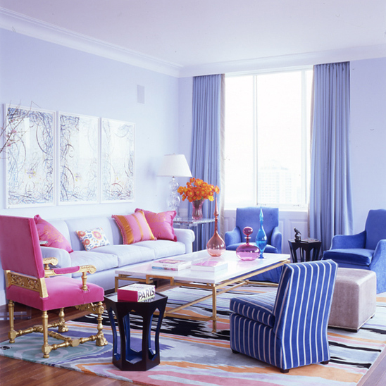 Colorful Living Space: More On Designer Jamie Drake... The King Of Color