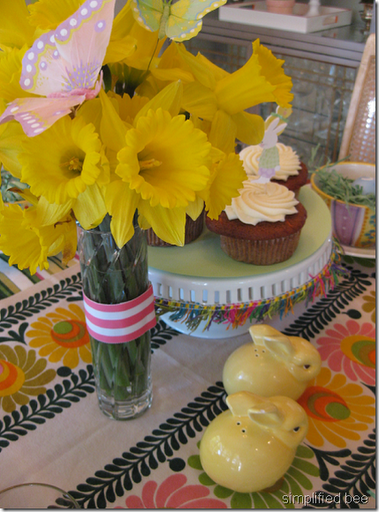 Easter brunch daffodil butterfly centerpiece