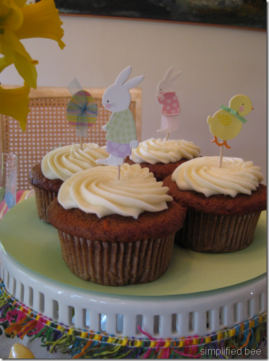 Easter cupcake toppers bunny meri meri