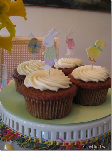 Easter cupcake toppers bunny meri meri
