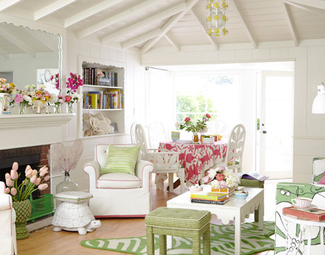 Cheery california beach bungalow by designer krista ewart simplified bee - Beach house decor ideas ...