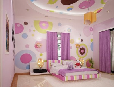 Isn't this colorful girl's bedroom by designer Shijo Sebastian of
