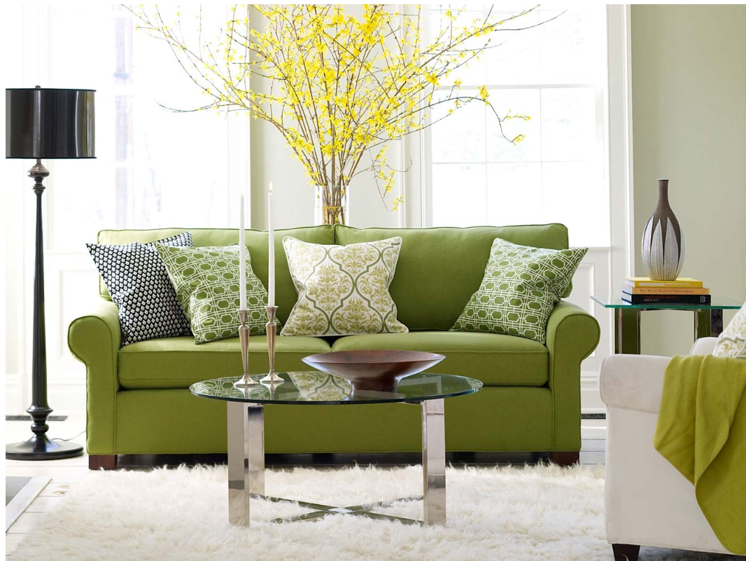 More Designer Living Rooms in Green | Simplified BeeSimplified Bee