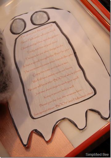 Halloween Boo'd Poem Words Printout
