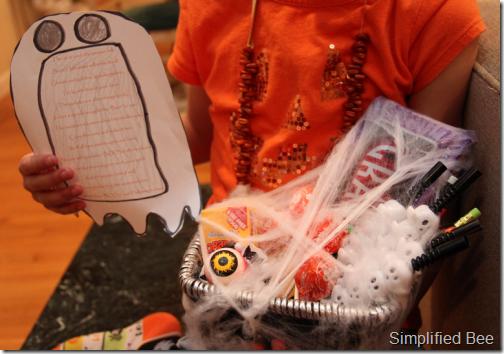 Halloween Boo'd basket ideas kids