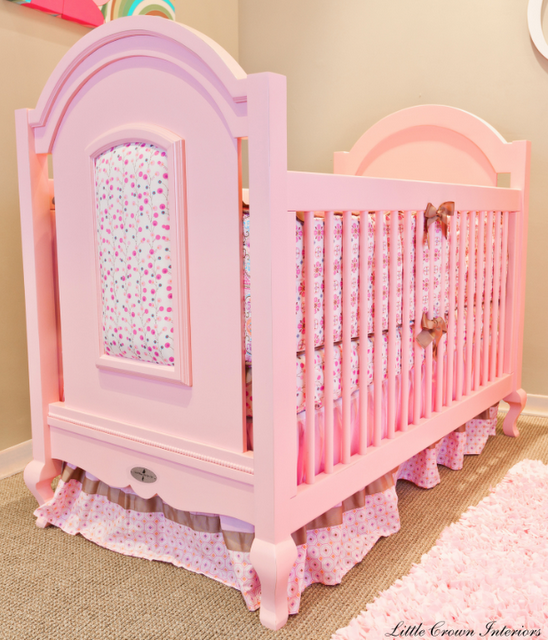 friday find hope pink crib for baby girl simplified bee. Black Bedroom Furniture Sets. Home Design Ideas