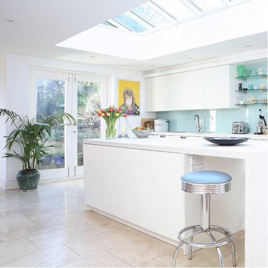 Sleek Simple And Modern White Kitchen Simplified Bee