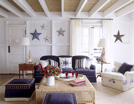 Designer Window Treatments additionally Shes A Grand Ole Flag July 4th Decor further Luminarias Para Cozinha Fotos together with Vad Ar New England additionally Coastal Home Decorating Themes. on seaside homes design
