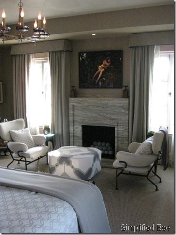 Jay Jeffers Bedroom Seating Fireplace Marble