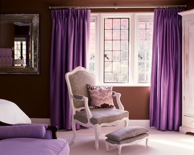 Interior design color trends for 2010 purple - Purple chairs for bedroom ...