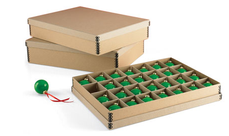 These archival ornament storage boxes provide secure storage and