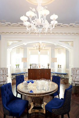 Parlor design exquisite transitional nyc townhouse for Dining room ideas for townhouse