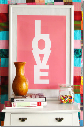 Pink Love Poster Print Made by Girl