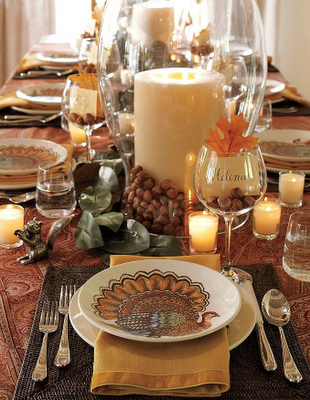 Thanksgiving table setting and decorating ideas Fall decorating ideas for dinner party