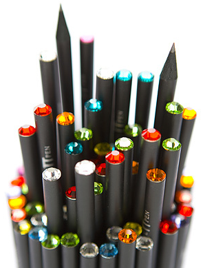 How Chic! These Fine Black Pencils By Piffl Pen Are Topped With Sparkling  Swarovski ® Crystals. I Am Sure Youu0027ll Find A Shade You Love U2013 Available In  Light ...