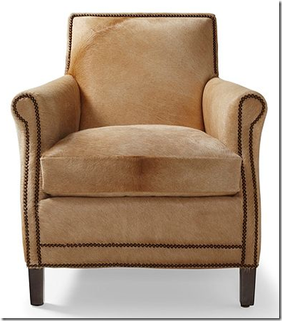 Serengeti cowhide chair with nailhead serena lily