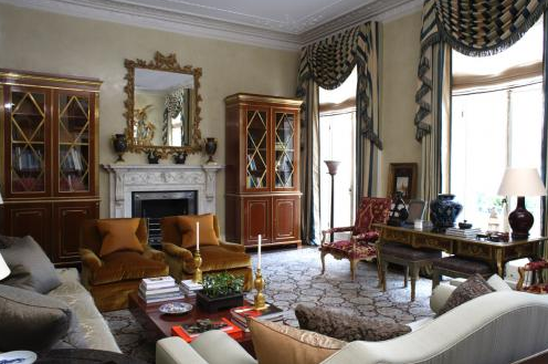 President 39 s day and michael s smith interior design - Salon de style anglais ...