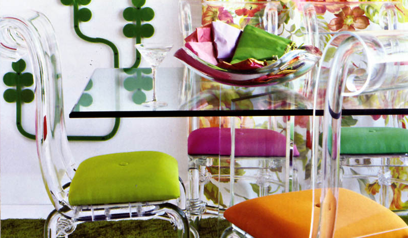 This week s friday find is the bella acrylic chair by spectrum