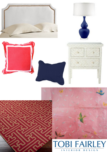 Tobi Fairley inspiration board bedroom