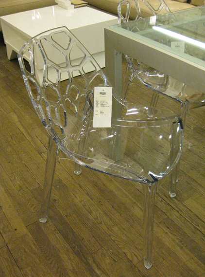 Last But Not Least, I Fell In Love With This Fretwork Back Ghost Chair.  Made In Italy They Are Stackable, Thus Easier To Store. I Imagined A Set  Surrounding ...