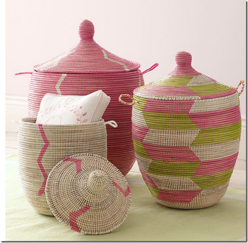 african senegalese storage baskets