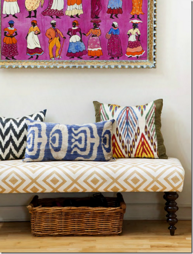 african_inspired_textiles_bench_artwork