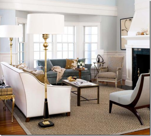 Window treatment ideas for bay windows simplified bee - Living room bay window treatments ...