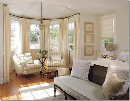 Lovely Bay Window Treatments Rods Mitered In Corners Amazing Design
