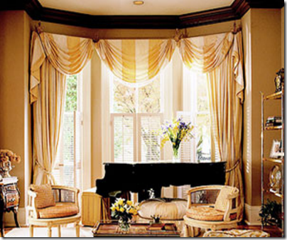 Window treatment ideas for bay windows simplified bee for Ideas for bay window treatments