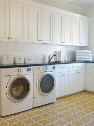 beautiful-laundry-room-white-yellow-ann-sacks-tile