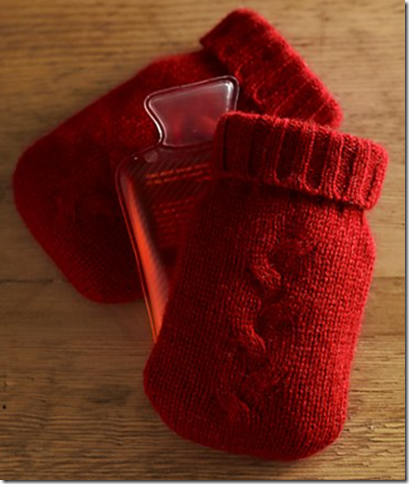 best hostess gifts knit hand warmers cashmere red