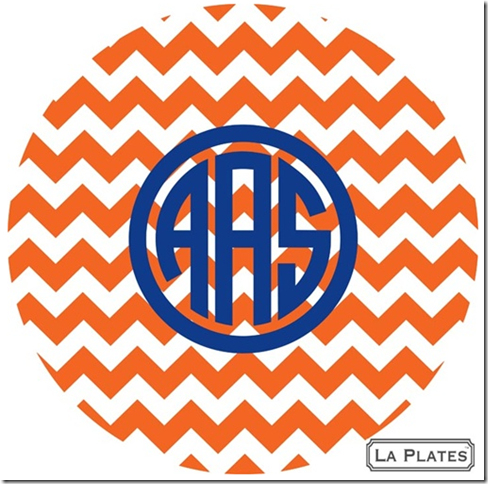 best hostess gifts monogrammed melamine plates