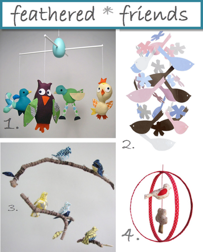 bird mobiles crib baby cute