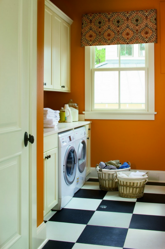 black-white-tile-laundry-room