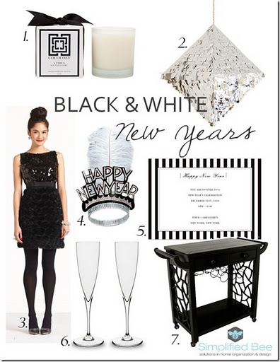 black and white new years party ideas 2012