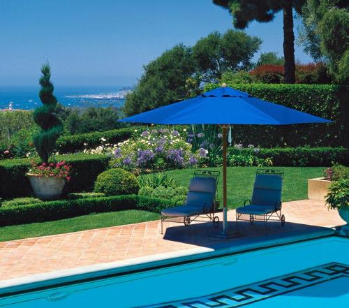 Blue Outdoor Umbrella