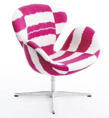 breast cancer swan chair madeline weinrib