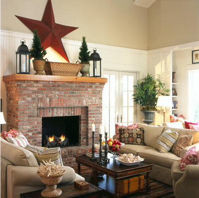 Living Room With Brick Fireplace simplified bee - page 236 of 271 - design for everyday living