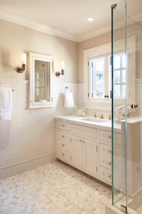 Timeless Master Bathroom By Scavullodesign Simplified Bee: master bathroom tile floor